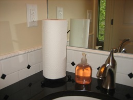 Small bathroom black and white paper towel for Black and white bathroom paper