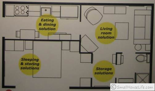 Ikea small house 376 square feet Ikea small house floor plans