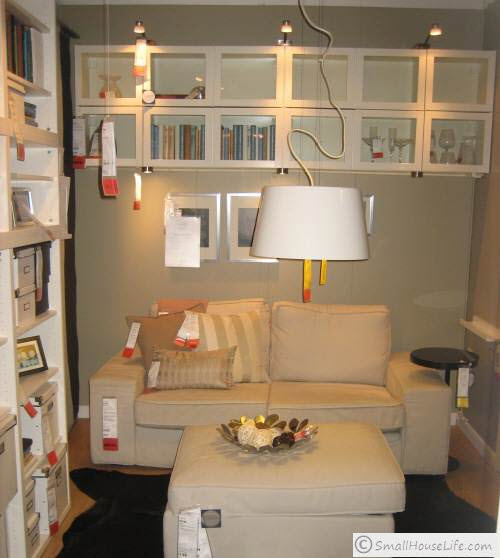 251 square foot ikea tiny house studio apartment youtube for Small square living room