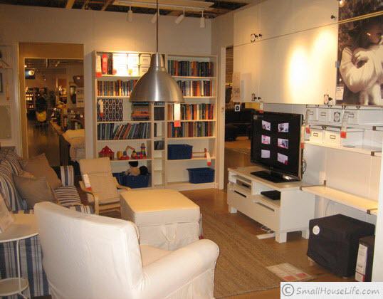 Ikea Small Living Room Decorating Furniture Ideas 2013
