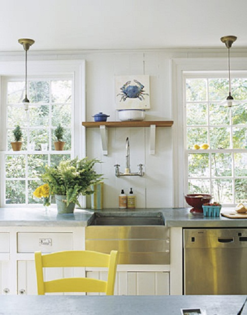 Small white kitchens House beautiful com kitchens
