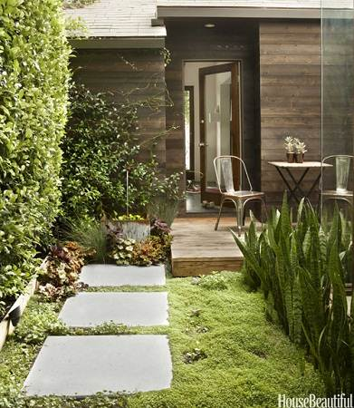 modern small house courtyard