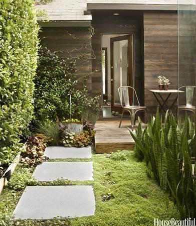 modern small house courtyard
