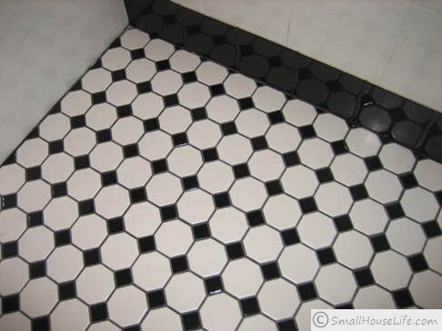 black and white floor tile black and white small bathroom ideas 29923
