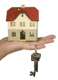 small house with keys